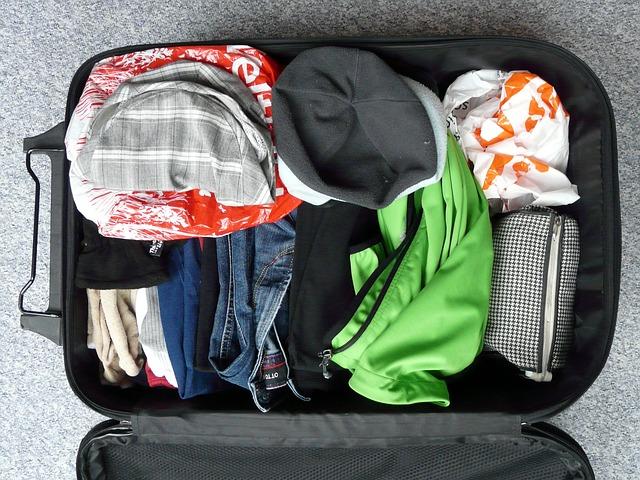 Valise préparée.