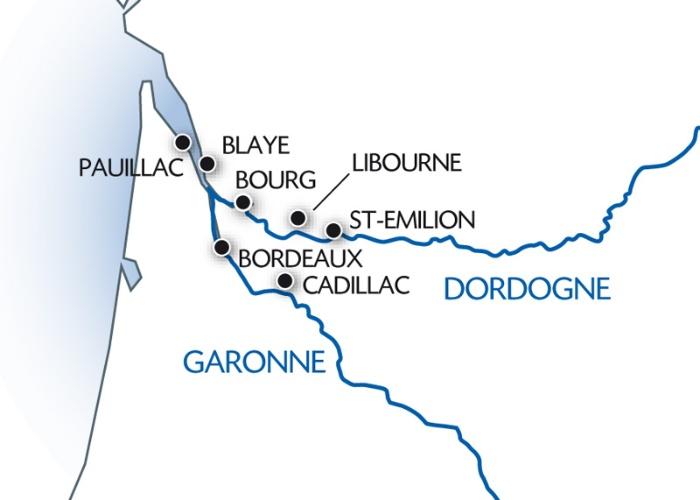 Carte itinéraire de la croisière