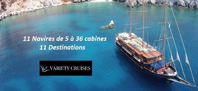 Variety Cruises : découvrez les 11 destinations sur des navires de petites tailles